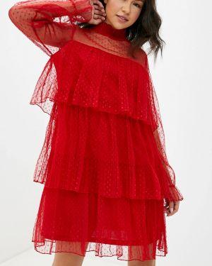 Вечернее платье красный осеннее Care Of You