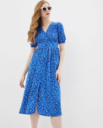 Синее платье а-силуэта Pinkkarrot