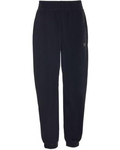 Спортивные брюки из полиэстера - черные T By Alexander Wang