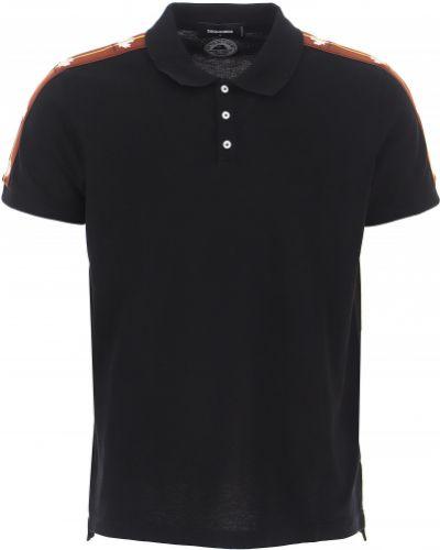 Czarna t-shirt bawełniana Dsquared