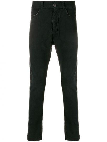 Черные джинсы с заниженным шаговым швом на пуговицах 10sei0otto