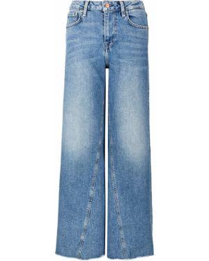Джинсы с высокой посадкой широкие синие Pepe Jeans