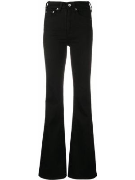 Расклешенные джинсы черные на пуговицах Rag & Bone