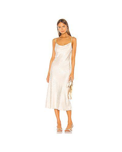 Платье миди из вискозы с декольте Bec&bridge
