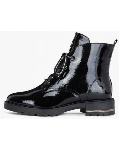 Черные лаковые кожаные ботинки T.taccardi