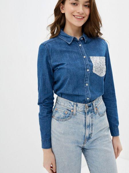 Джинсовая рубашка синяя Springfield