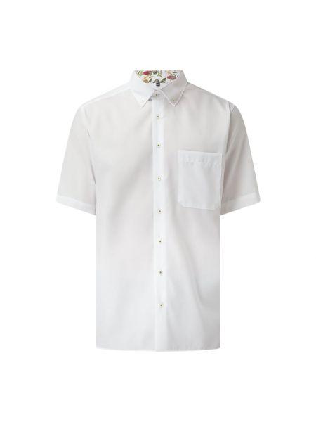 Biała koszula oxford krótki rękaw bawełniana Eterna