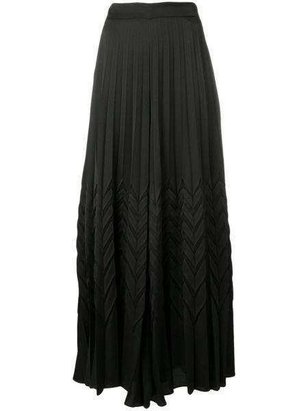 Плиссированные черные брюки с поясом Blumarine