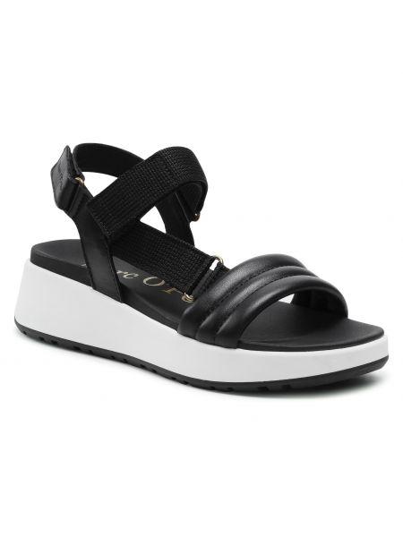 Sandały skórzane - czarne Marc O'polo