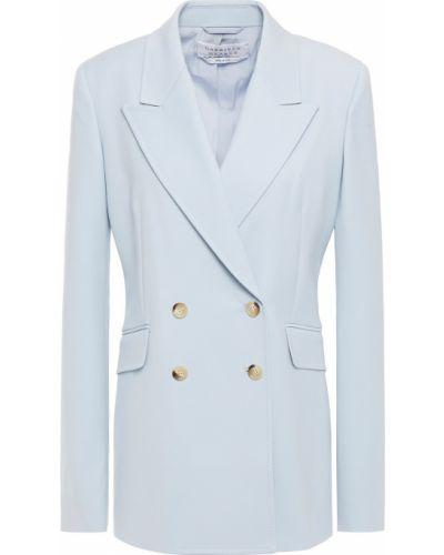 Синий пиджак двубортный с карманами Gabriela Hearst