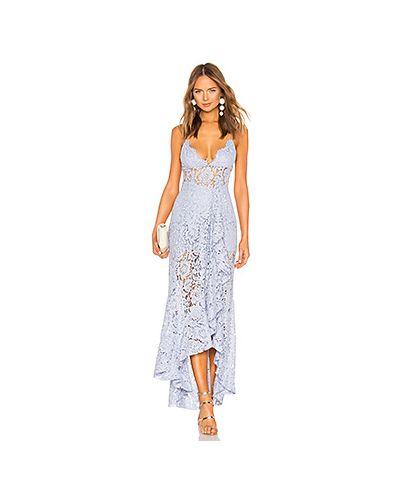 Вечернее платье шелковое прозрачное Nbd