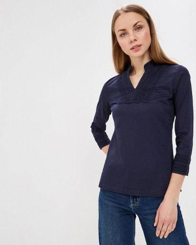Блузка с длинным рукавом синяя Almatrichi