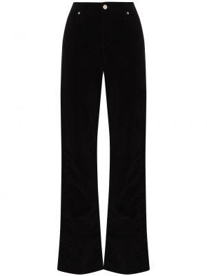 Klasyczne czarne jeansy z wysokim stanem Rta