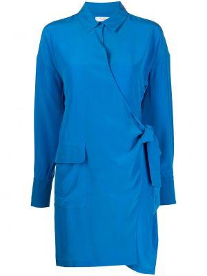 Синее платье на запах Equipment