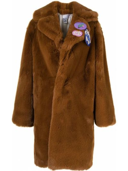 Коричневое пальто из полиэстера Natasha Zinko
