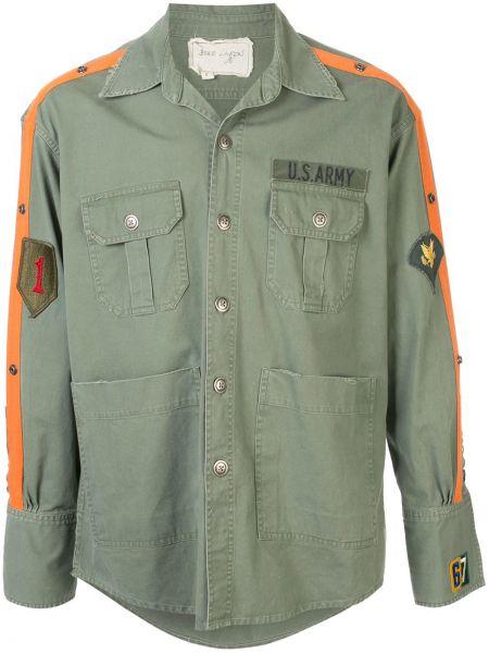 Zielona koszula bawełniana z długimi rękawami Greg Lauren