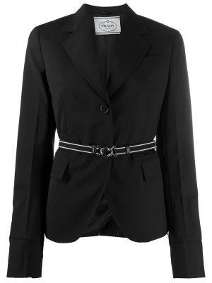 Куртка черная на пуговицах Prada