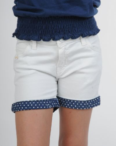 Шорты с карманами - белые Guess