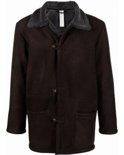 Brązowy długi płaszcz Giorgio Brato