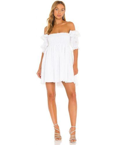 Платье с вышивкой - белое Misa Los Angeles