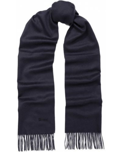 Синий шарф с бахромой Brioni
