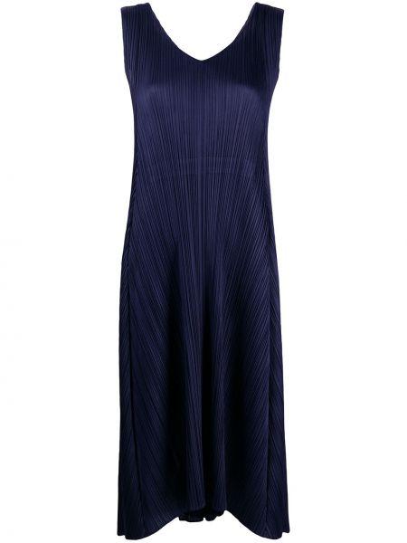 Платье миди с открытой спиной с V-образным вырезом Issey Miyake