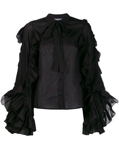 Черная рубашка с оборками Milla Milla