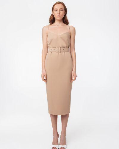 Платье с открытой спиной - бежевое Magnetic
