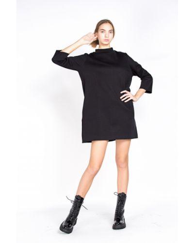 Хлопковое черное платье Samo