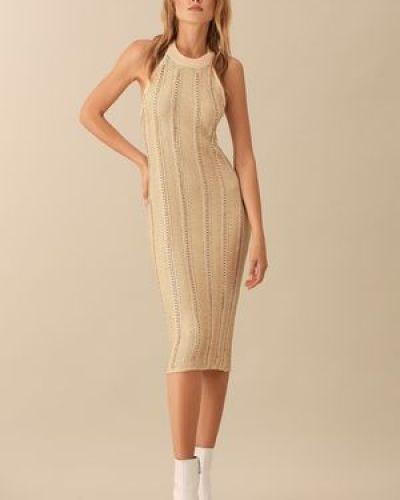 Платье из вискозы с люрексом Love Republic