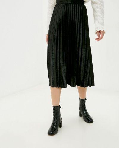 Черная плиссированная юбка Marks & Spencer