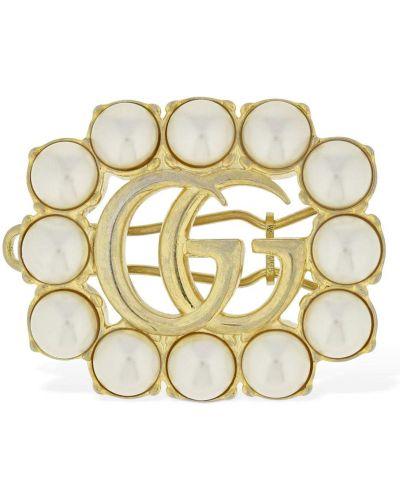 Bezpłatne cięcie biały spinka do włosów z perłami bezpłatne cięcie Gucci