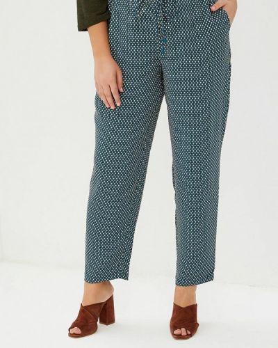 Бирюзовые брюки с завышенной талией Violeta By Mango