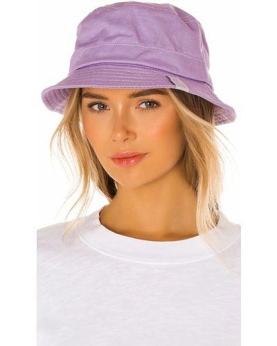 Хлопковая фиолетовая шапка с разрезом Frankies Bikinis