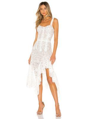 Пляжное кружевное белое платье Bronx And Banco