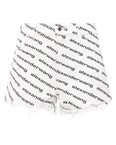 Джинсовые шорты - белые Denim X Alexander Wang