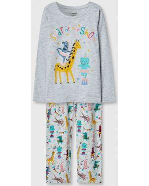 Пижамная пижама с поясом круглая с круглым вырезом Ostin