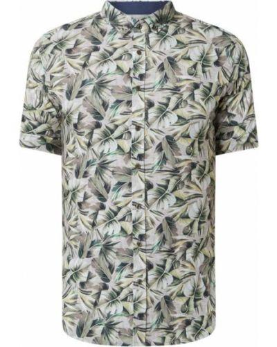 Beżowa koszula krótki rękaw bawełniana Desoto