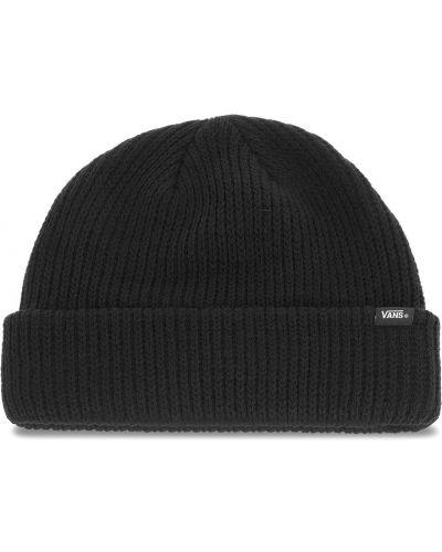 Czarna czapka z akrylu Vans