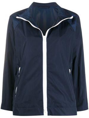 С рукавами синяя куртка на молнии Mackintosh