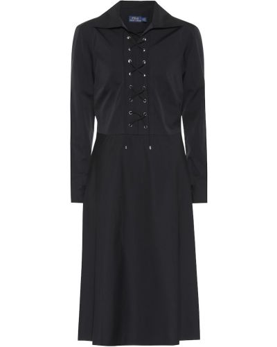 Платье миди на шнуровке с кружевными рукавами Polo Ralph Lauren