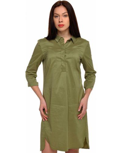 Хлопковое платье - зеленое Luisa Cerano