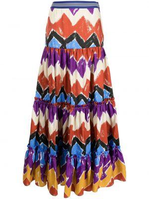 Разноцветная юбка Stella Jean