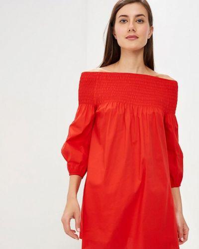 Блузка с открытыми плечами весенний красная Perfect J