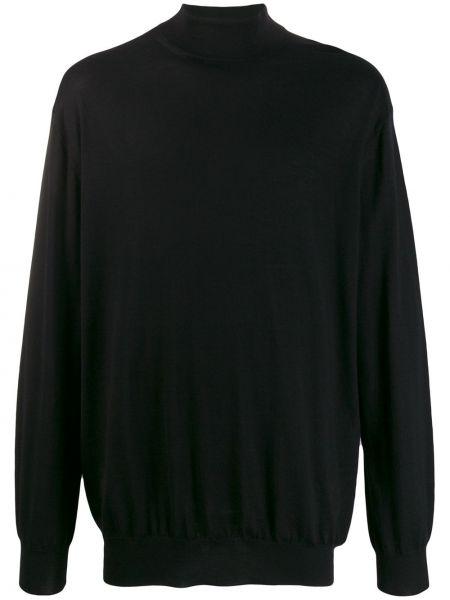 Czarny z kaszmiru sweter Cruciani