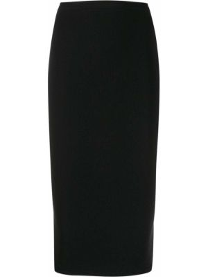 Черная прямая юбка миди с поясом в рубчик Wolford