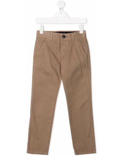 Брючные бежевые брюки дудочки с карманами Sun 68