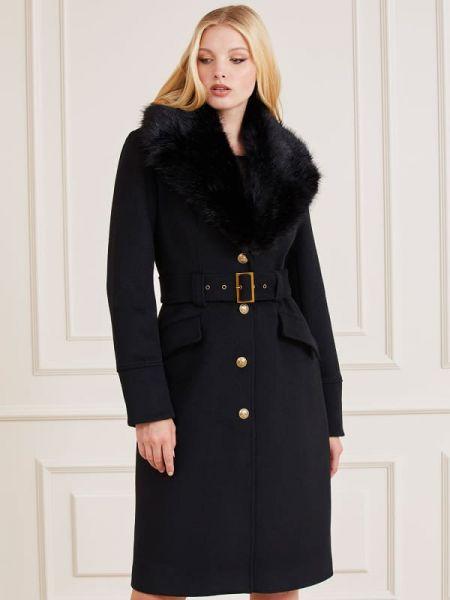Długi płaszcz wełniany Guess