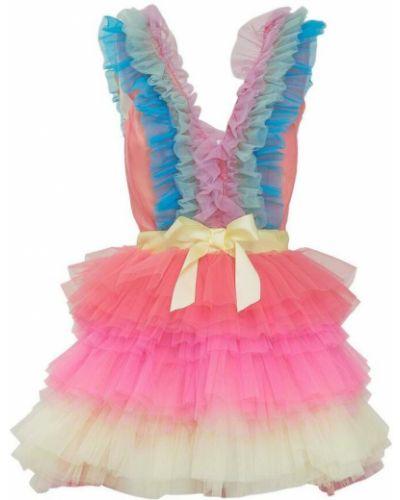 Różowa sukienka mini tiulowa Teen Idol