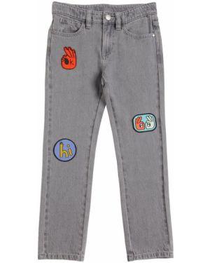 Jeansy na gumce z łatami Stella Mccartney Kids